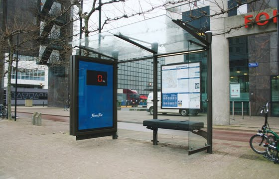 Fitness  creative bus stop advertisement