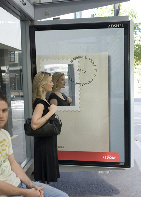 Australia Post creative bus stop advertisement