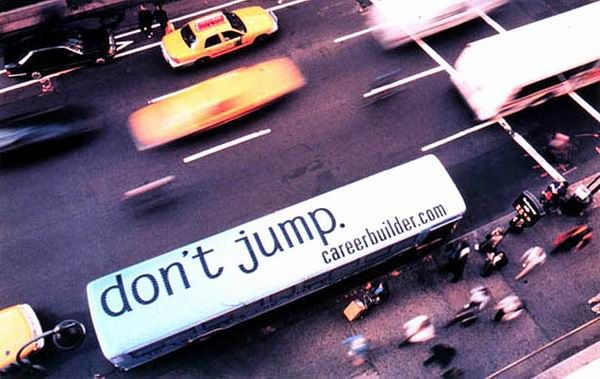 Don't jump bus advertisement