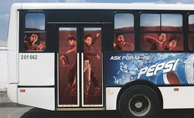 Pepsi bus advertisement