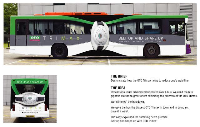 Slim bus advertisement