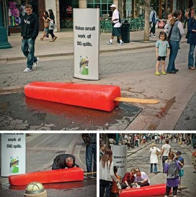 Bounty paper towels ice-cream advertisement
