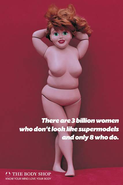 The Body Shop Fat Barbie ad