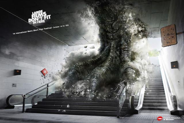 Metro short film festival ads - Godzilla