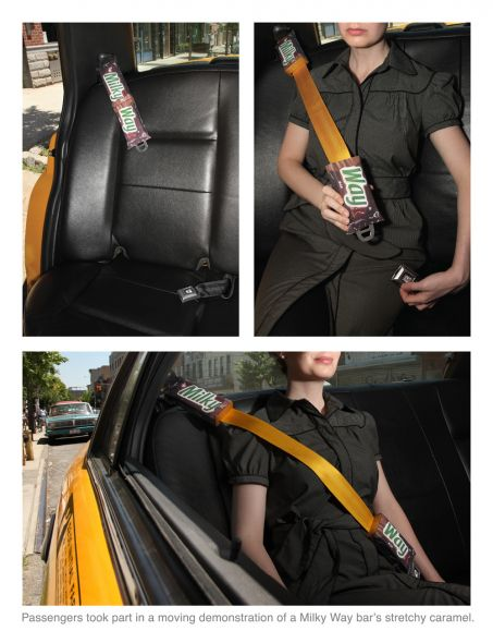 Milky Way Seatbelt creative advertising