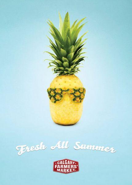 Calgary farmer's market - Fresh all summer pineapple