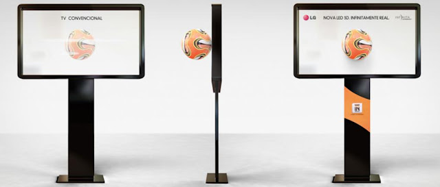 LG Infinite 3D ball ambient advertisement