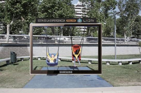Samsung 3D Full HD swing ad