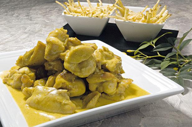 Pollo con curry III