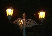 lampu khas di area kraton