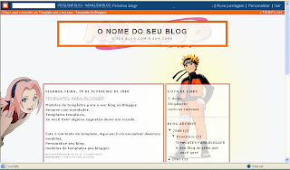 Template for Blogger - Tema para Blogger  Naruto
