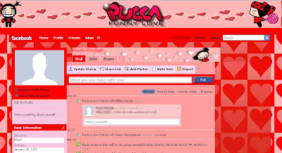 facebook skin layout - theme for facebook with  Pucca