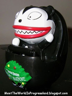 it was sold at tokyo disneyland during their 2007 halloweenchristmas season its a wind up toy of scary teddy from the nightmare before christmas