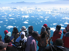Cruising the Greenlandic melting-ice,