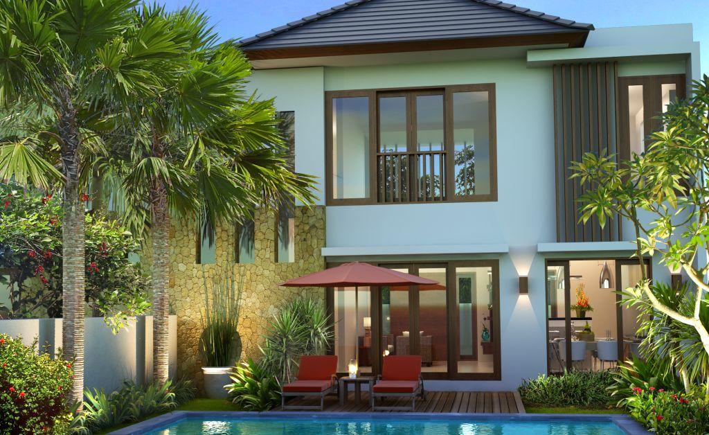 gambar desain rumah desain rumah type 130 batubulan residence