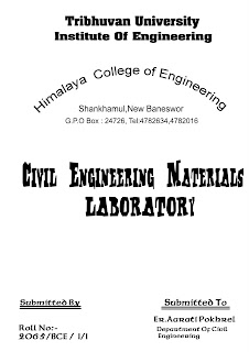 cover page for college report