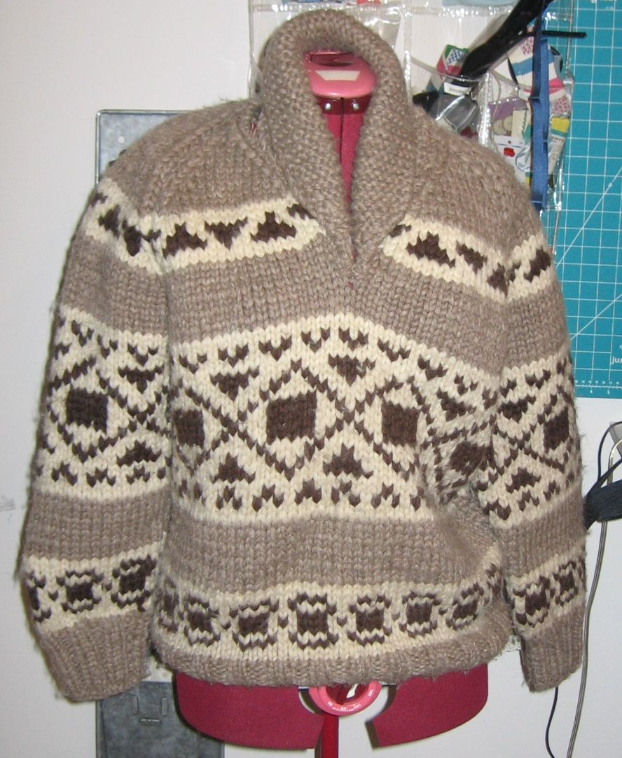 Beau Baby: Cowichan Sweater Makeover