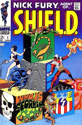Nick Fury Agent of Shield v1 #1 1960s marvel comic book cover art by Jim Steranko