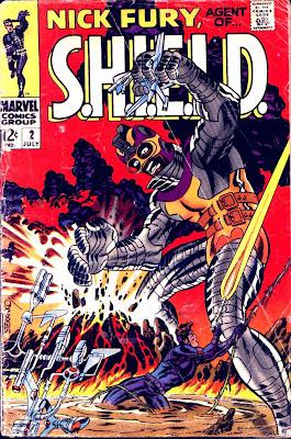 Nick Fury Agent of Shield v1 #2 1960s marvel comic book cover art by Jim Steranko