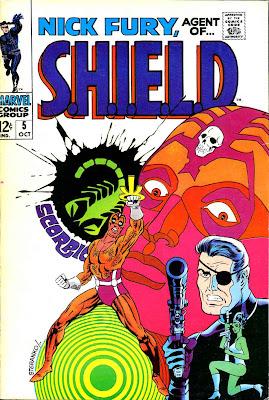 Nick Fury Agent of Shield v1 #5 1960s marvel comic book cover art by Jim Steranko