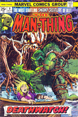 Man-Thing v1 #9 marvel 1970s bronze age comic book cover art by Mike Ploog
