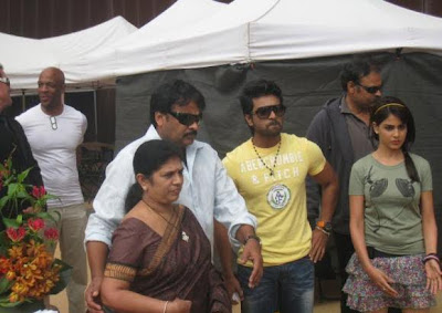 Ramcharan Teja Orange movie set