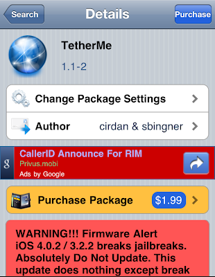 iPhone Tethering app.