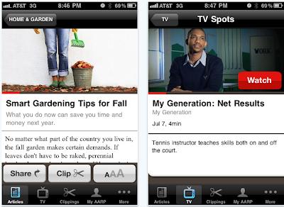 AARP iPhone apps
