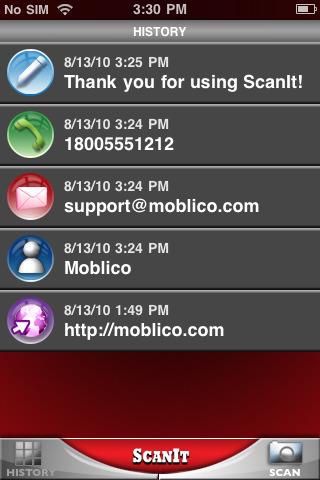scanit iPhone app