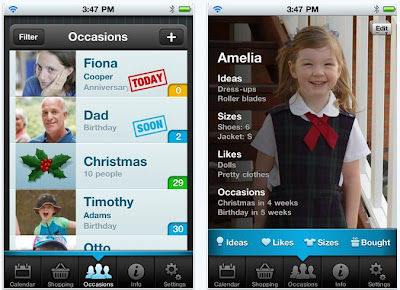Gift Plan App for iPhone