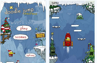 doodle jump christmas special for iPhone