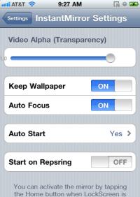 Instant Mirror Jailbroken app