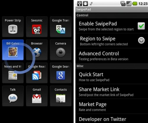 SwipePad Android Application