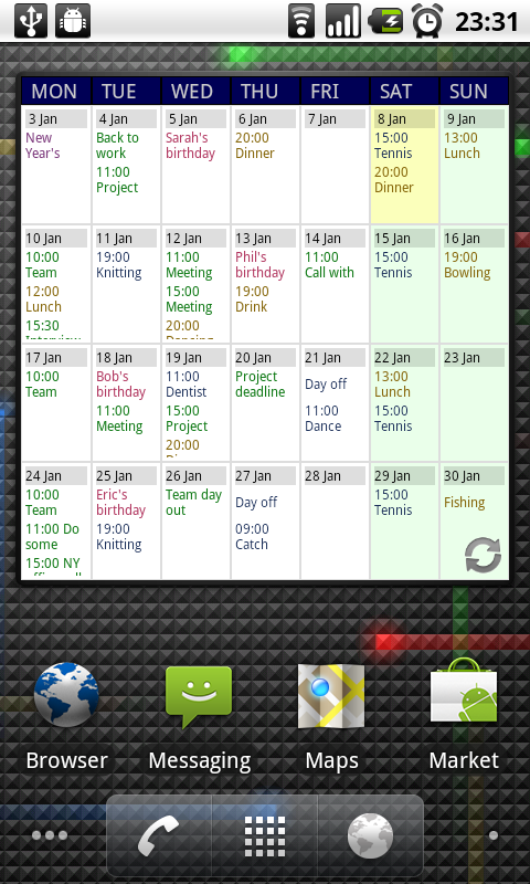 Calendar App Android : Touch calendar app for android phones latest mobile news