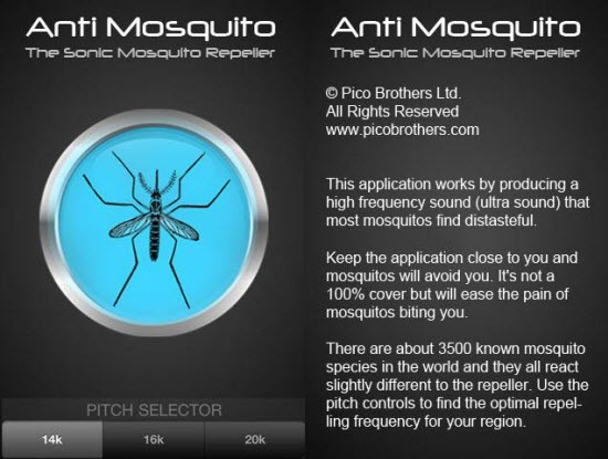 Anti mosquito app for Android