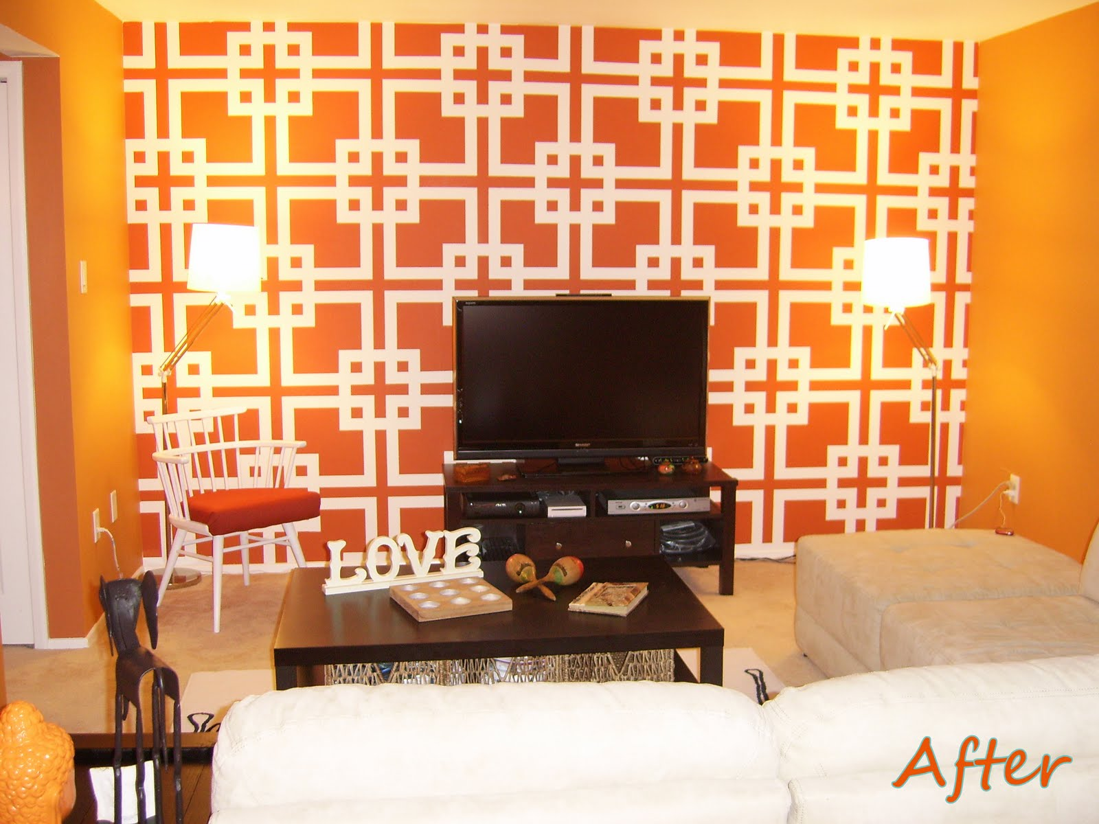 Give a Hoot {After but Before}: Orange You Glad I Painted that Wall