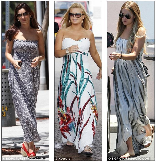 Kerry Katona and Lauren Conrad all opted for maxi dresses today