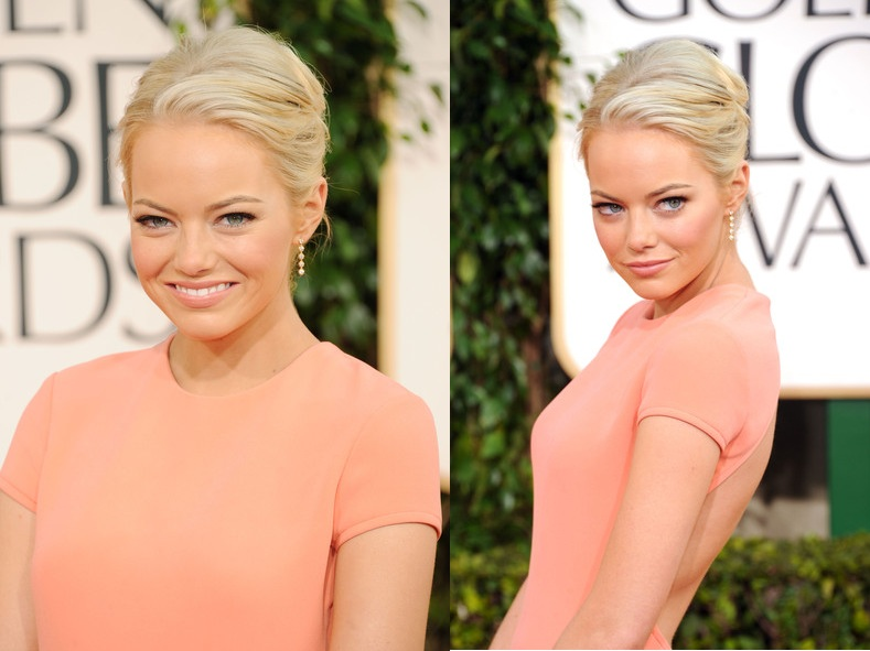 emma stone blonde bun. Emma Stone at the 68th Annual