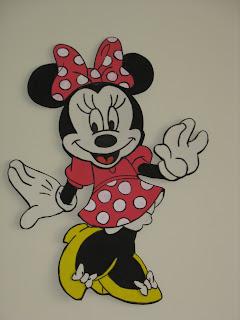 Mickey y Minnie mouse en goma eva