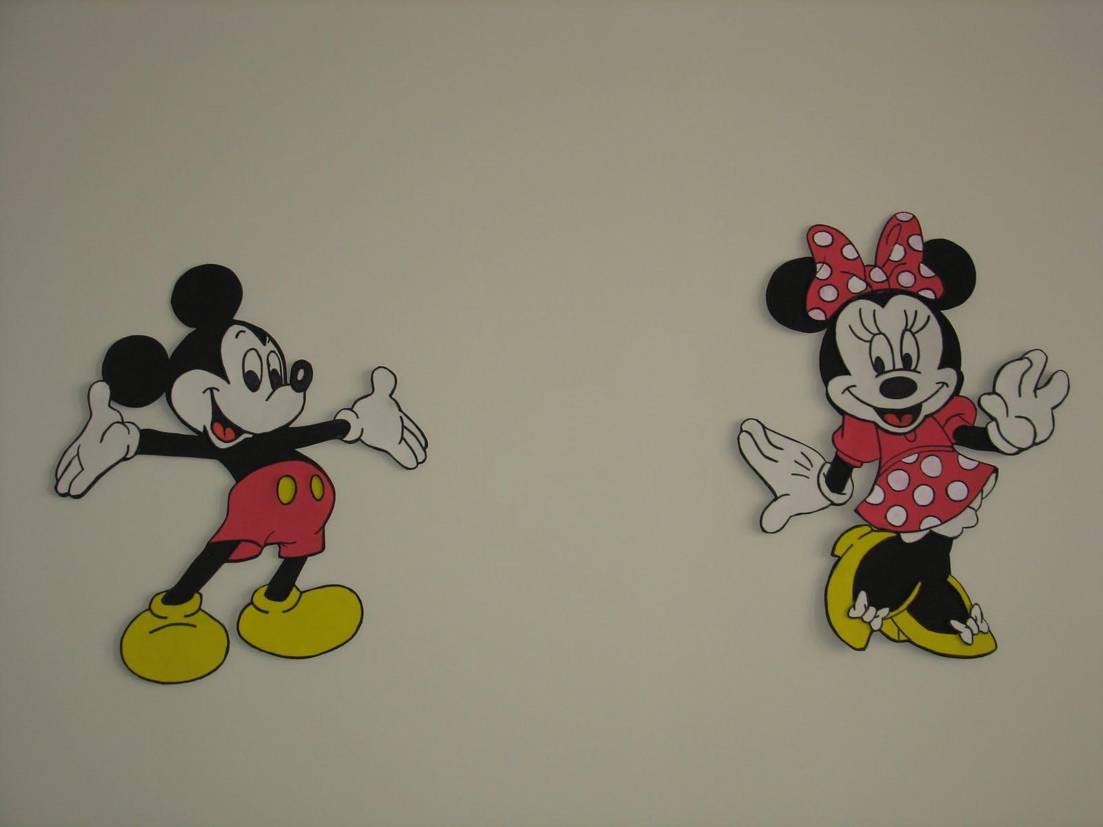 El baúl de Ana Belén: Mickey y Minnie mouse en goma eva