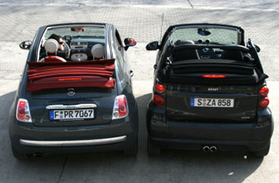 New Fiat 500 C Vs Smart Fortwo Cabrio Source Spiegel De