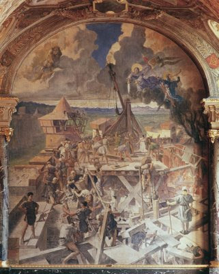 Simon de Montfort, Toulouse restaura muralhas destruídas por Simon de Montfort, Herois medievais