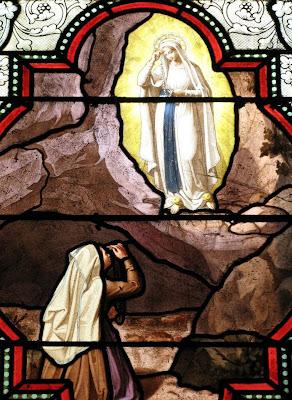 Lourdes, Santa Bernadette com Nossa Senhora