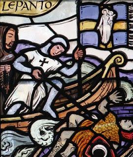 Lepanto, vitral da igreja de São Giles em Cheadle, Inglaterra