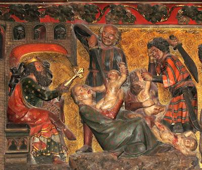 Herodes ordena massacre dos inocentes. Notre Dame de Paris