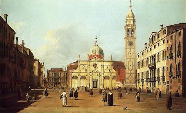 Praça de Santa Maria Formosa, em Veneza. Pintura do século XVIII