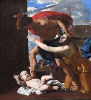 Massacre dos inocentes, Nicolas Poussin (1594-1665), Museu de Chantilly