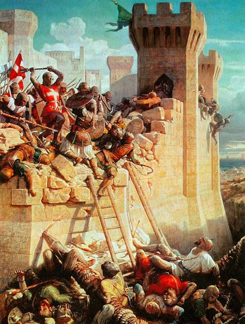 A defesa de Acre pelos cavaleiros de Malta