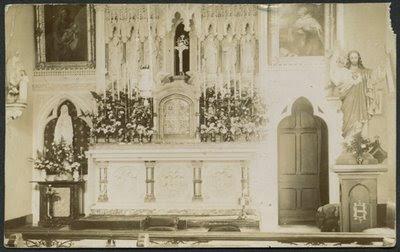 Lanherne, altar no tempo das carmelitas