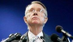 Senador Harry Reid, líder da maioria democrata no Senado: